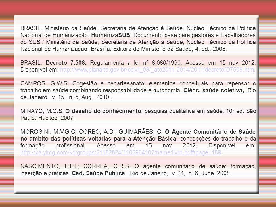 BRASIL. Ministério da Saúde. Secretaria de Atenção à Saúde