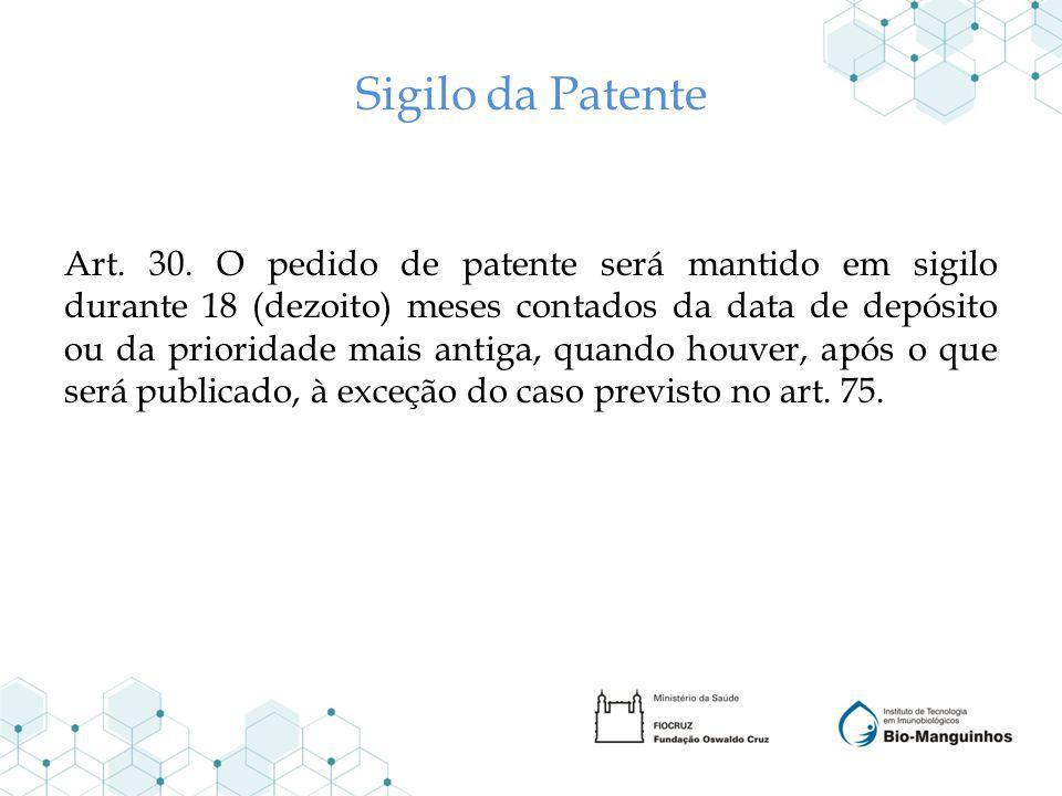 Sigilo da Patente