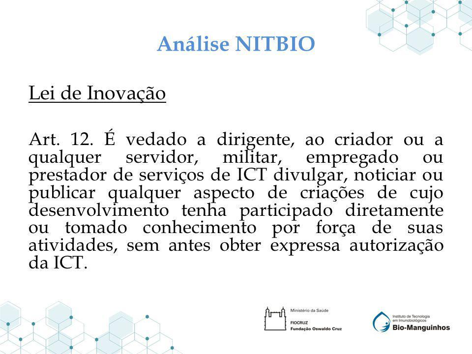 Análise NITBIO Lei de Inovação