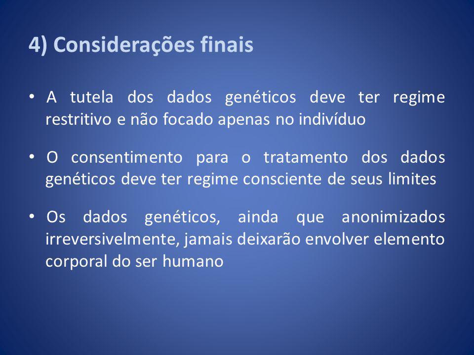4) Considerações finais