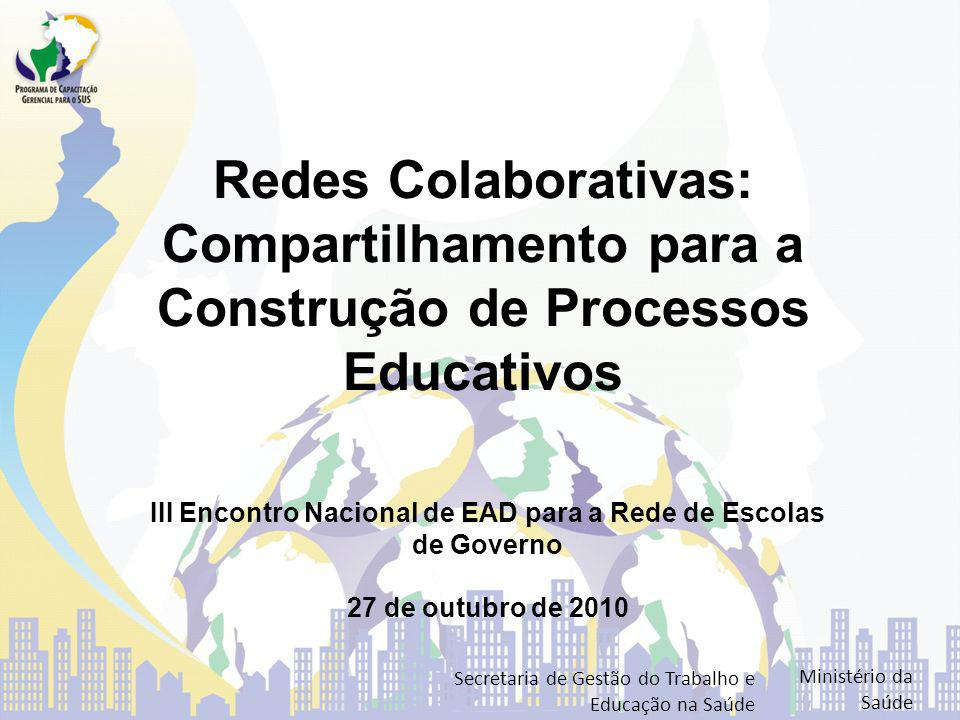 III Encontro Nacional de EAD para a Rede de Escolas de Governo