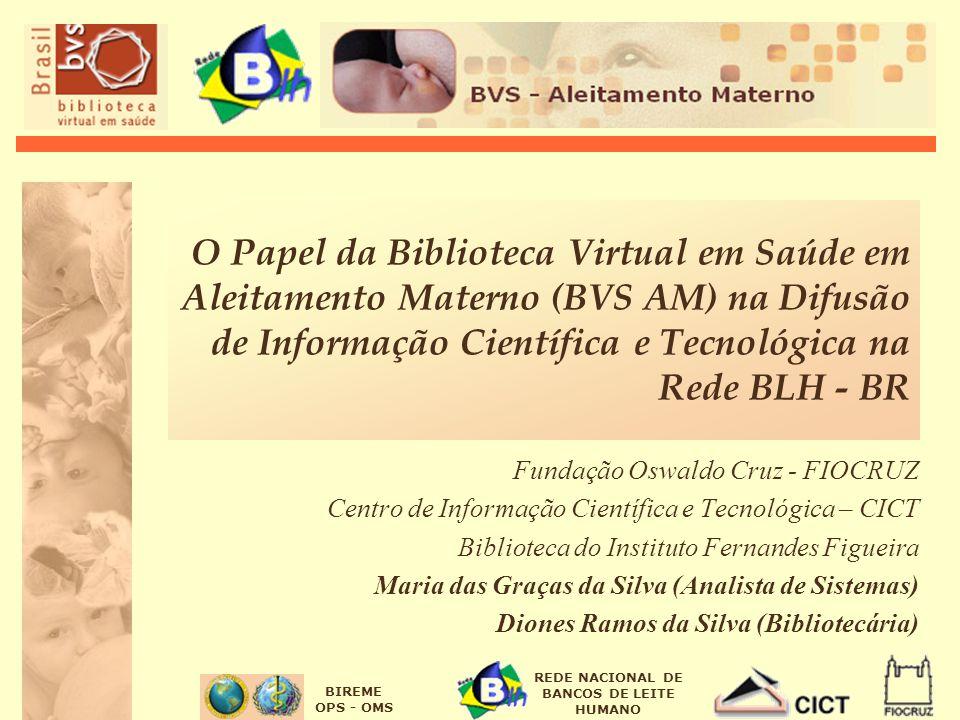 O Papel da Biblioteca Virtual em Saúde em Aleitamento Materno (BVS AM) na Difusão de Informação Científica e Tecnológica na Rede BLH - BR
