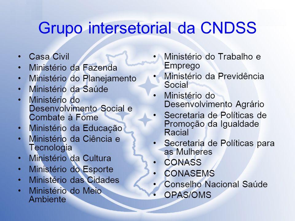 Grupo intersetorial da CNDSS