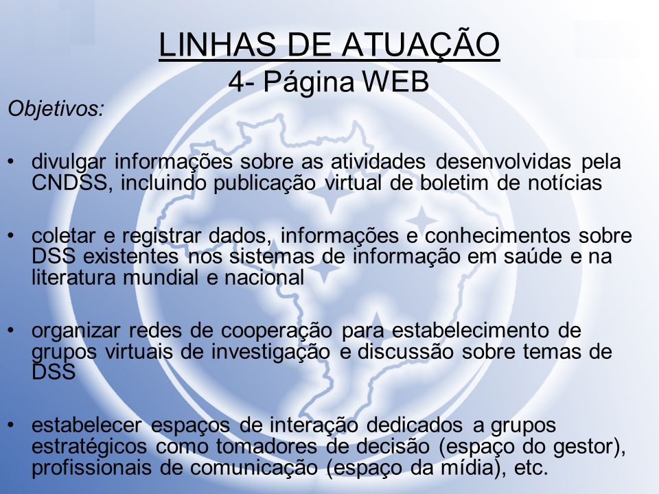 LINHAS DE ATUAÇÃO 4- Página WEB