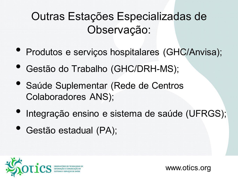 Outras Estações Especializadas de Observação: