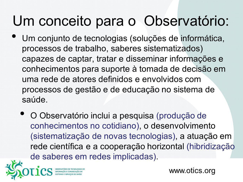 Um conceito para o Observatório:
