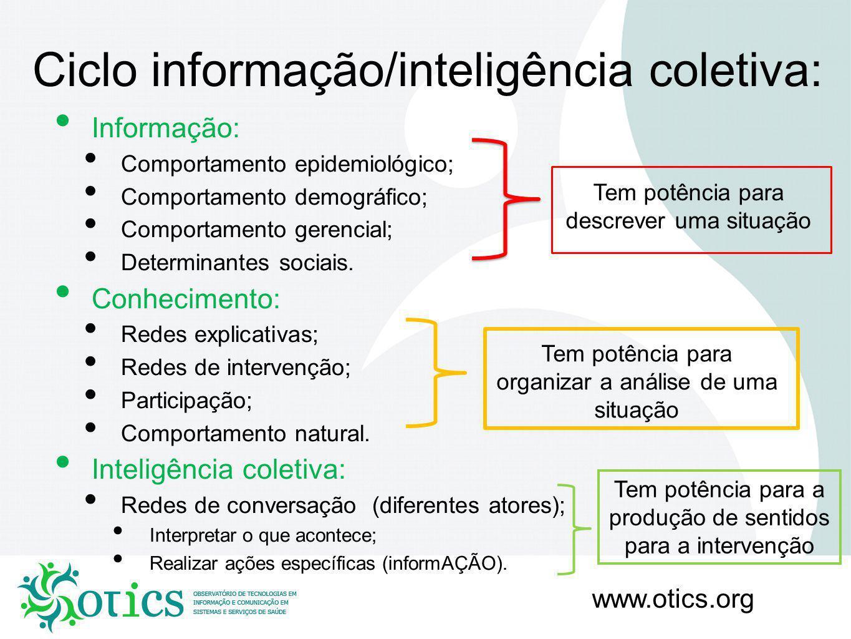 Ciclo informação/inteligência coletiva: