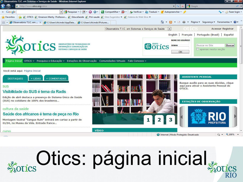 Otics: página inicial
