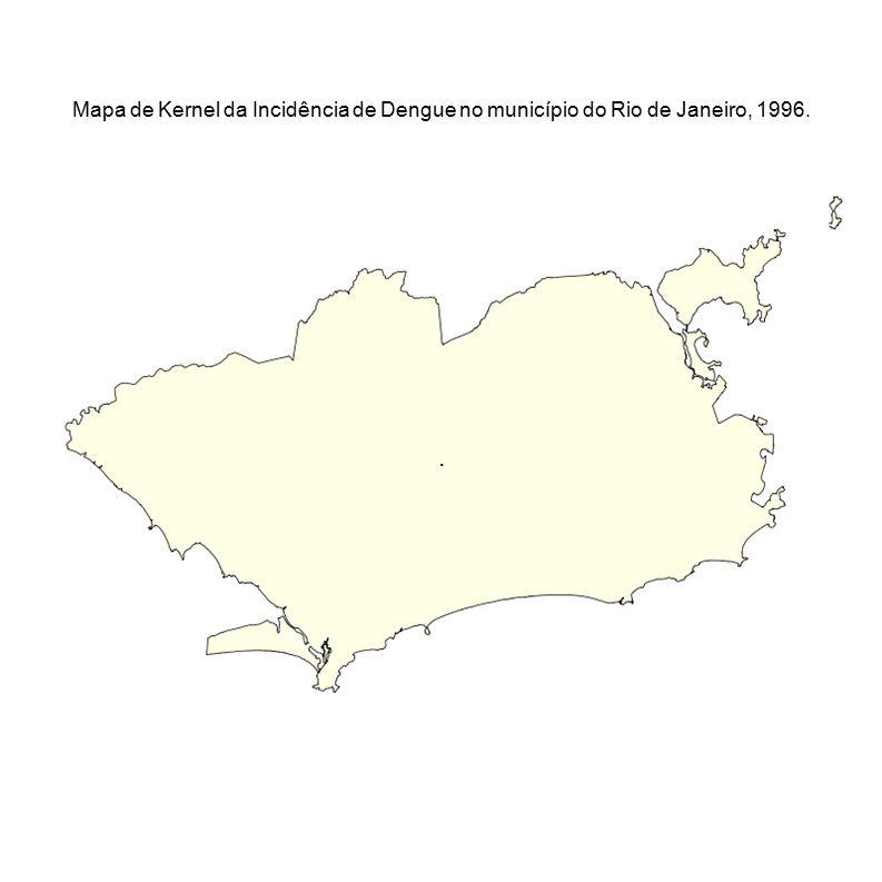 Mapa de Kernel da Incidência de Dengue no município do Rio de Janeiro, 1996.