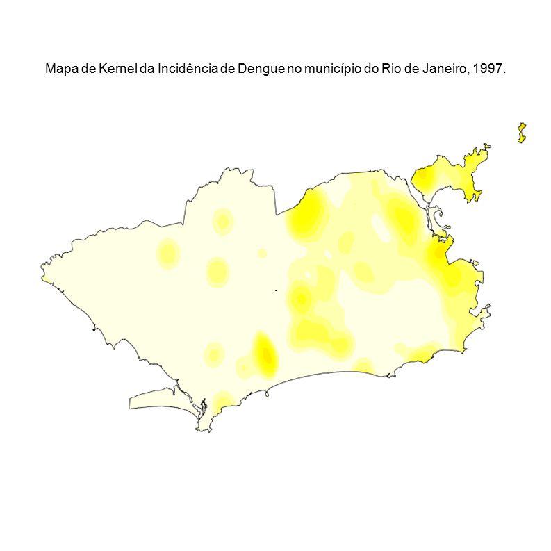 Mapa de Kernel da Incidência de Dengue no município do Rio de Janeiro, 1997.