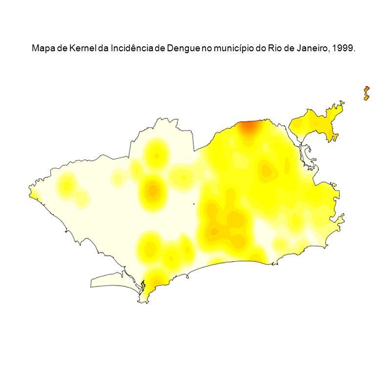 Mapa de Kernel da Incidência de Dengue no município do Rio de Janeiro, 1999.