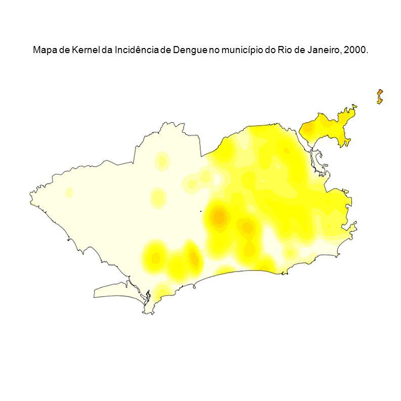 Mapa de Kernel da Incidência de Dengue no município do Rio de Janeiro, 2000.