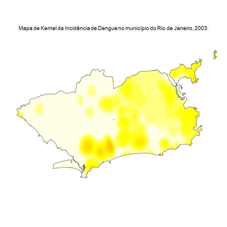 Mapa de Kernel da Incidência de Dengue no município do Rio de Janeiro, 2003.