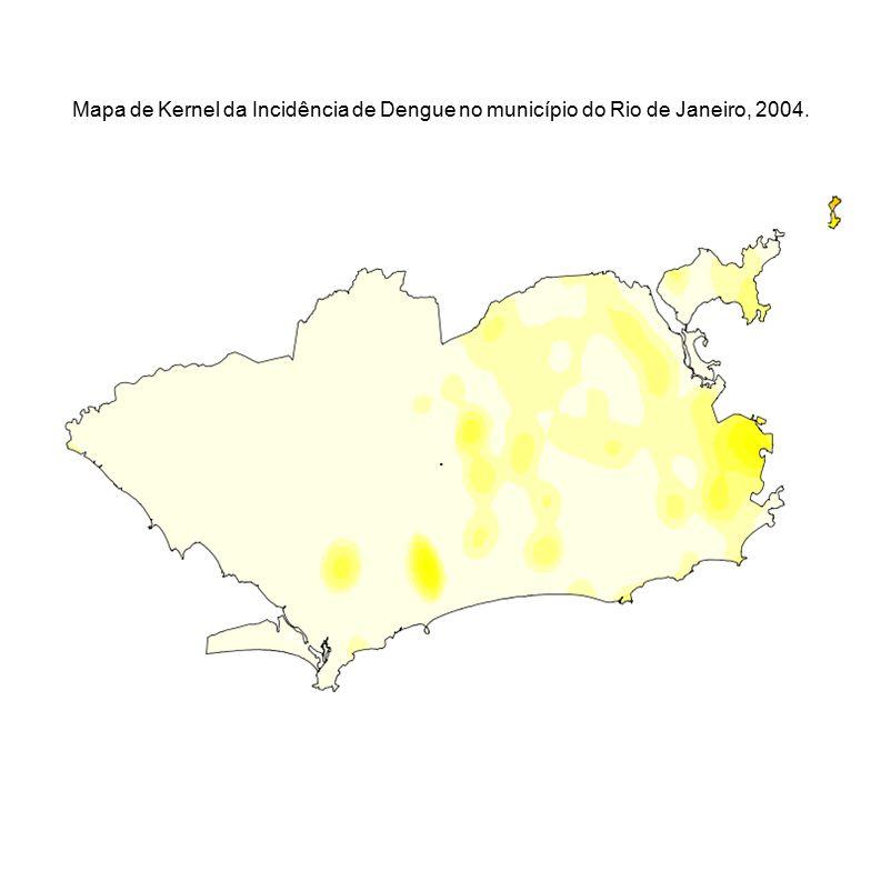 Mapa de Kernel da Incidência de Dengue no município do Rio de Janeiro, 2004.