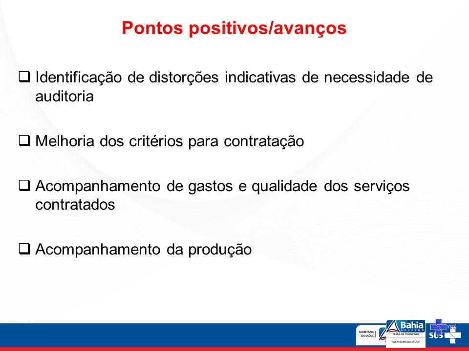 Pontos positivos/avanços