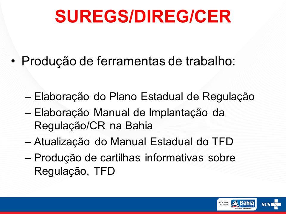 SUREGS/DIREG/CER Produção de ferramentas de trabalho: