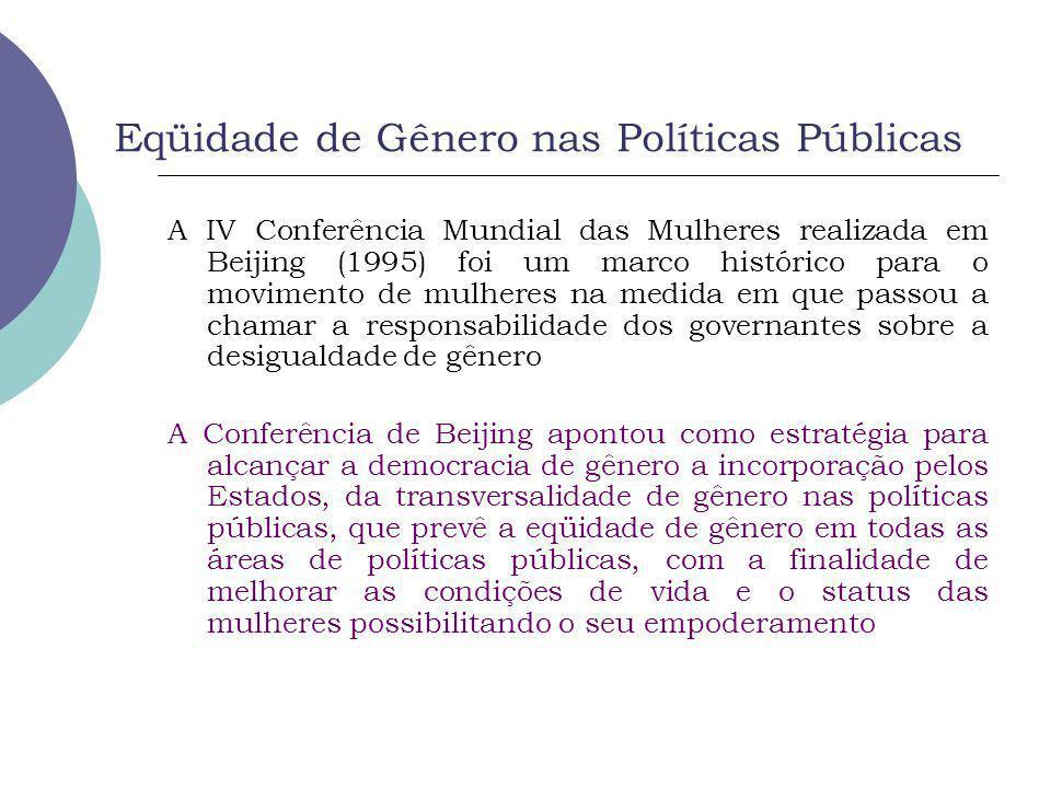 Eqüidade de Gênero nas Políticas Públicas