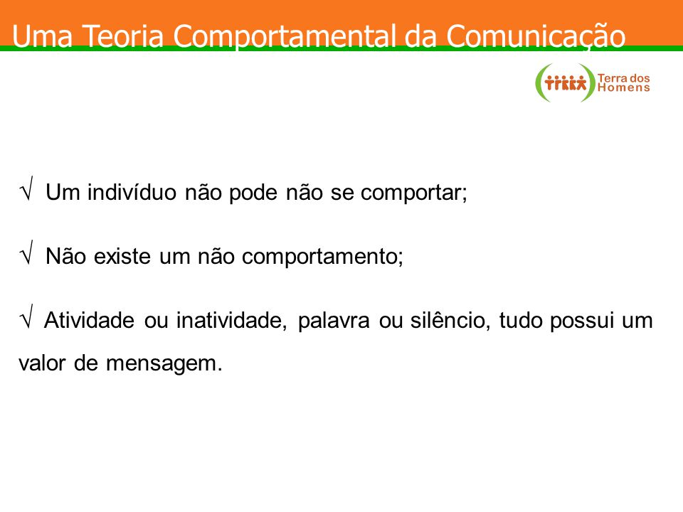 Uma Teoria Comportamental da Comunicação