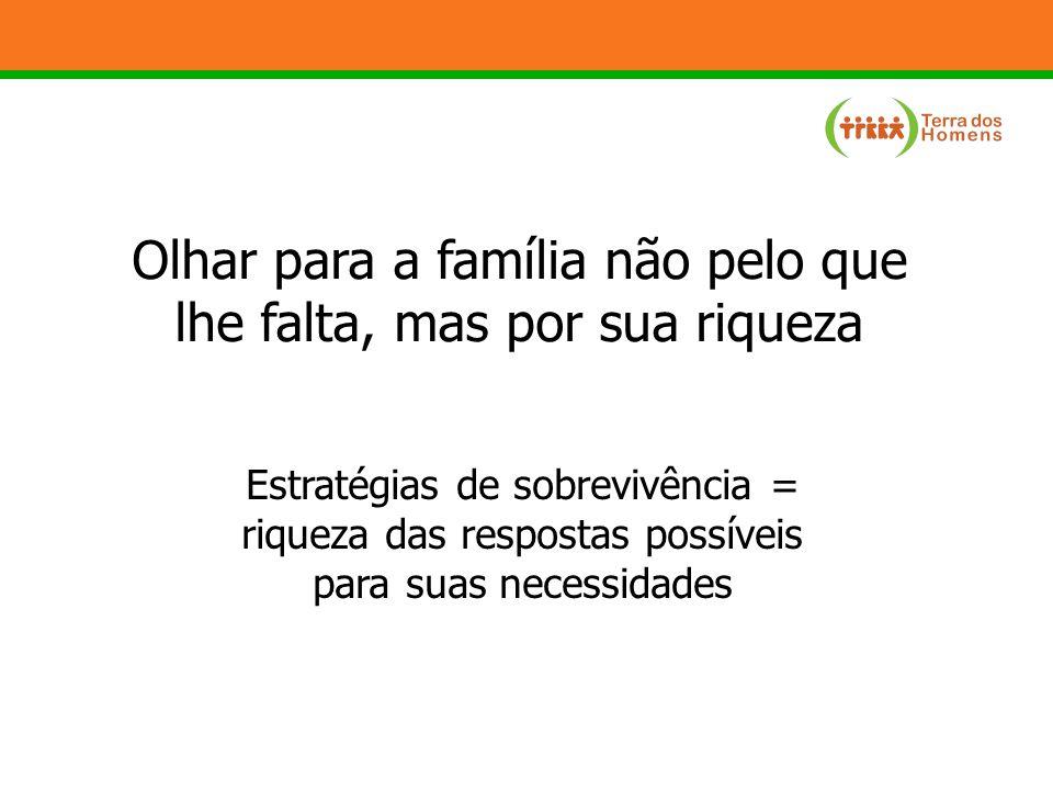 Olhar para a família não pelo que lhe falta, mas por sua riqueza