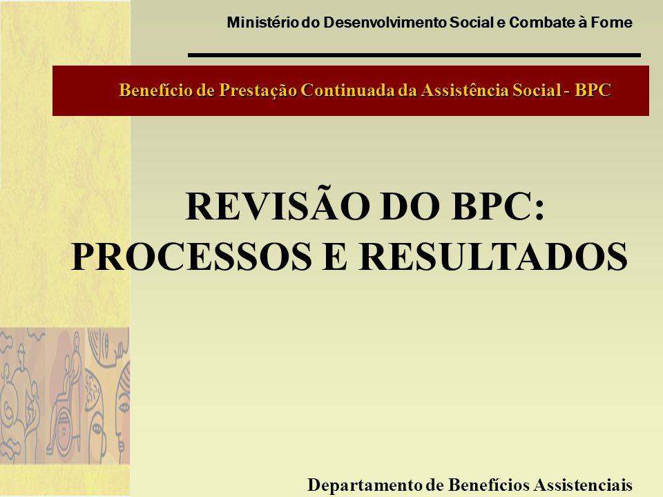 REVISÃO DO BPC: PROCESSOS E RESULTADOS