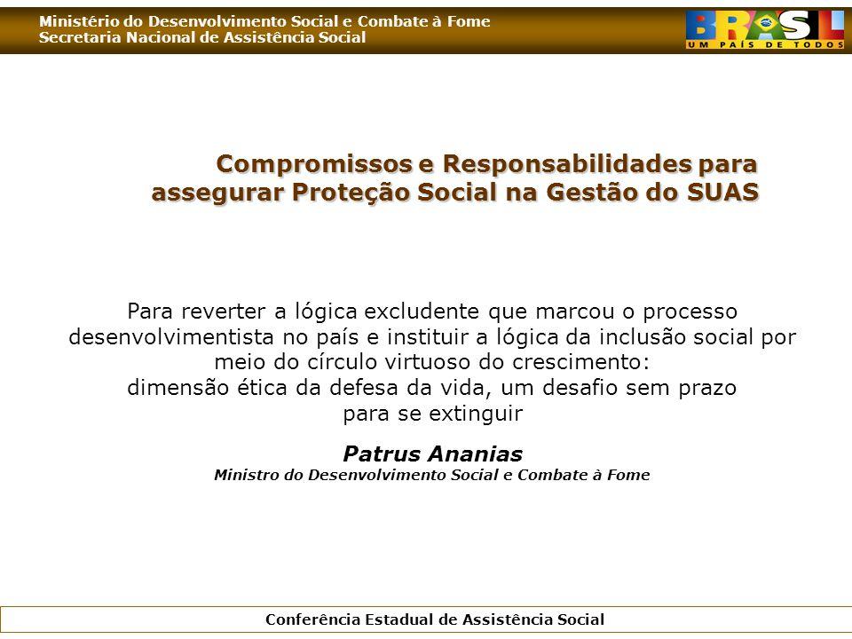 Patrus Ananias Ministro do Desenvolvimento Social e Combate à Fome