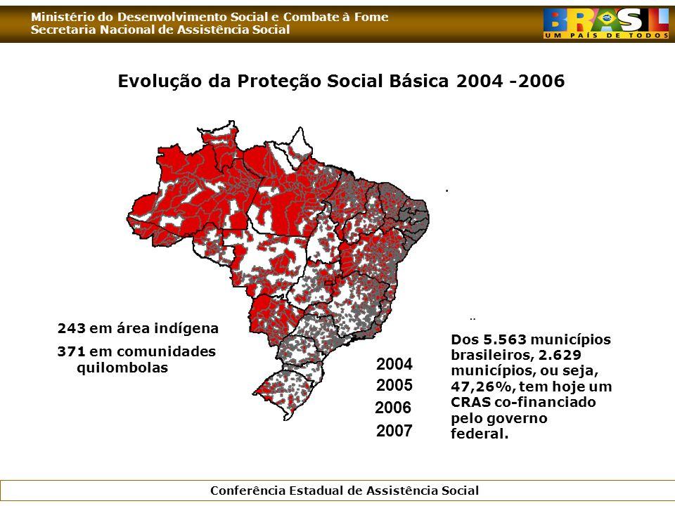 Evolução da Proteção Social Básica 2004 -2006