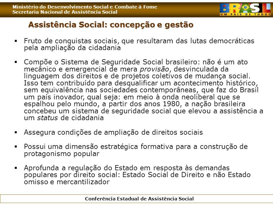 Assistência Social: concepção e gestão