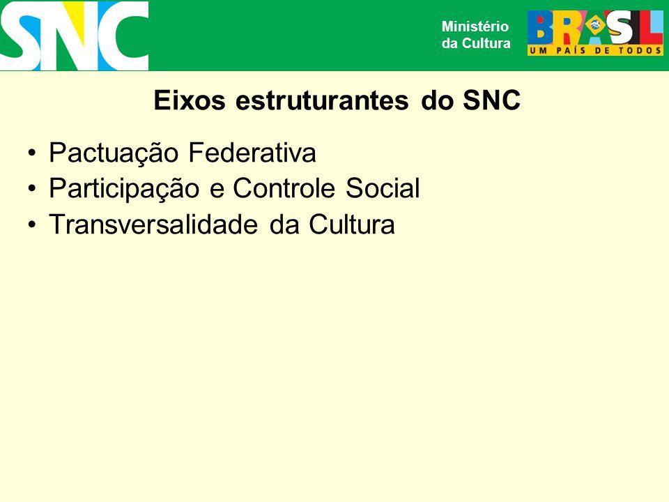 Eixos estruturantes do SNC