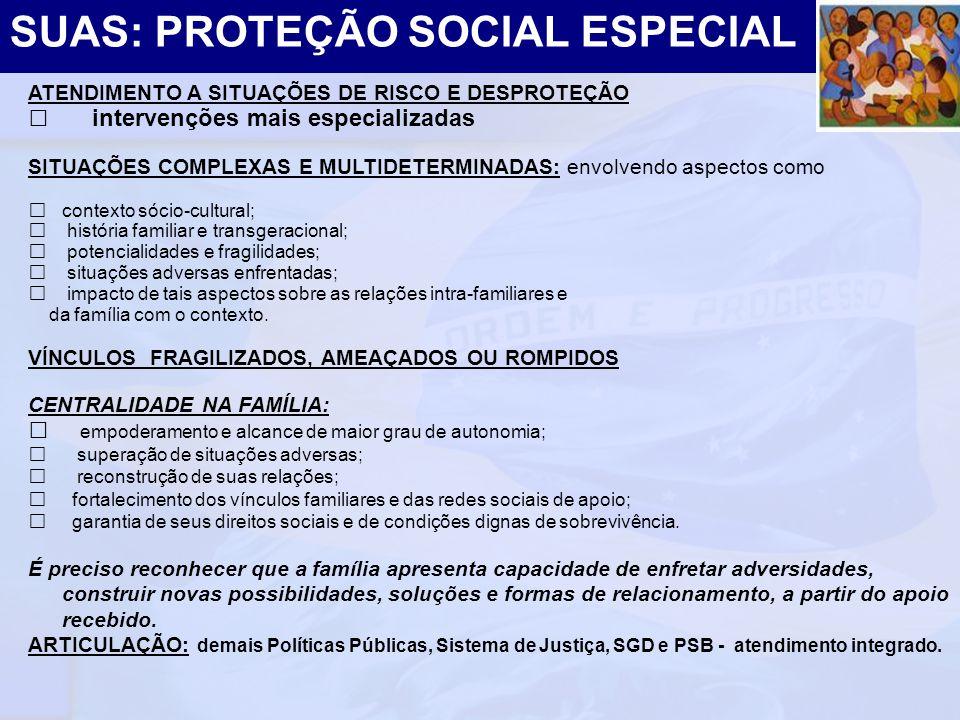 SUAS: PROTEÇÃO SOCIAL ESPECIAL
