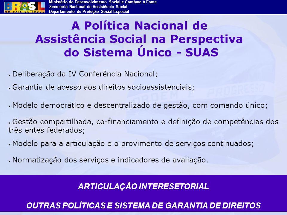 A Política Nacional de Assistência Social na Perspectiva do Sistema Único - SUAS