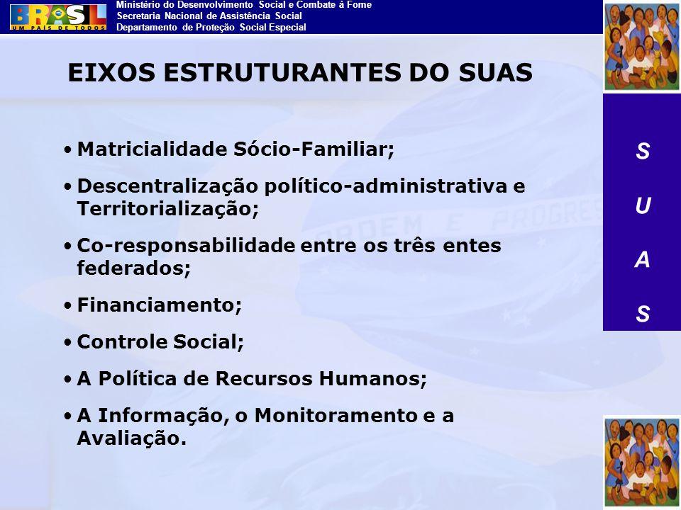 EIXOS ESTRUTURANTES DO SUAS