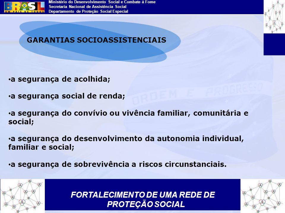 GARANTIAS SOCIOASSISTENCIAIS FORTALECIMENTO DE UMA REDE DE