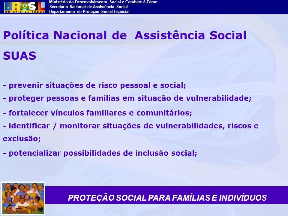 PROTEÇÃO SOCIAL PARA FAMÍLIAS E INDIVÍDUOS