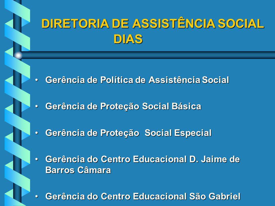 DIRETORIA DE ASSISTÊNCIA SOCIAL DIAS
