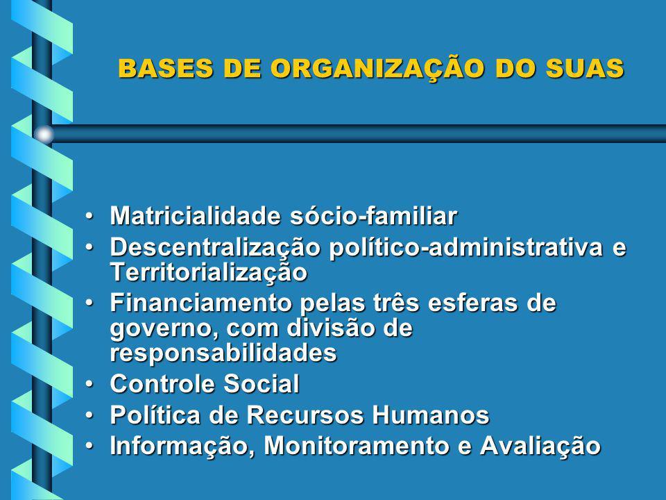 BASES DE ORGANIZAÇÃO DO SUAS