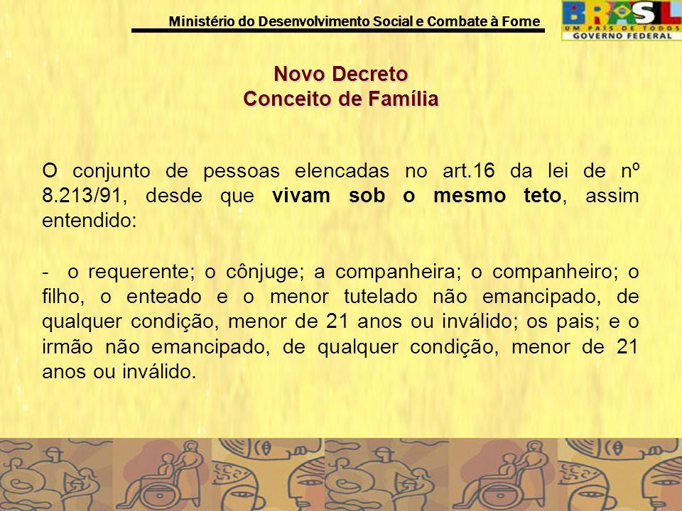 Novo Decreto Conceito de Família.