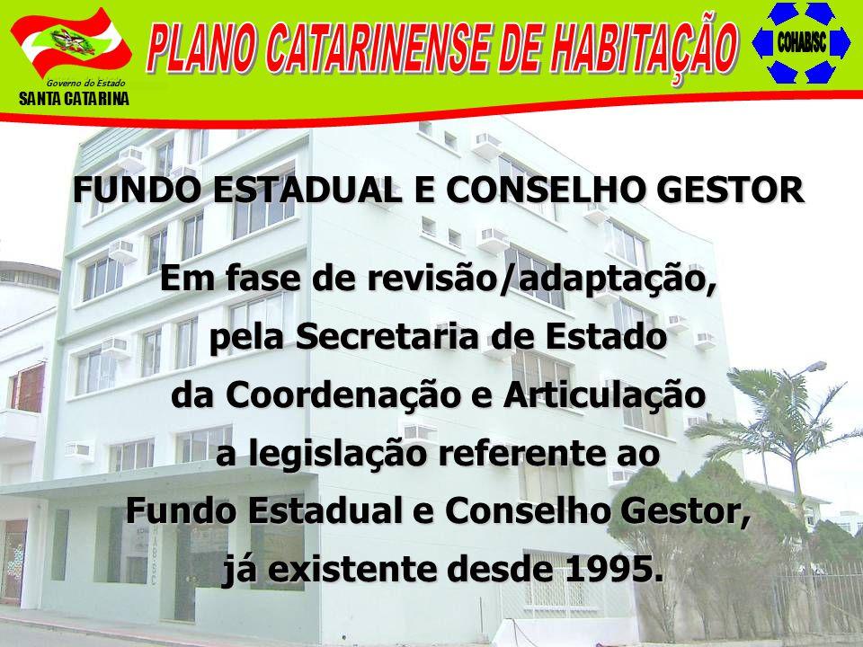 PLANO CATARINENSE DE HABITAÇÃO COHAB/SC