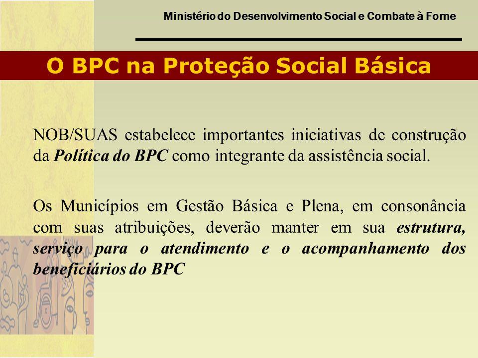 O BPC na Proteção Social Básica