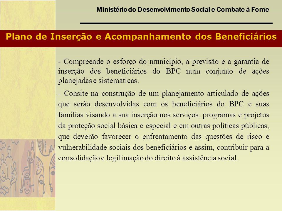 Plano de Inserção e Acompanhamento dos Beneficiários
