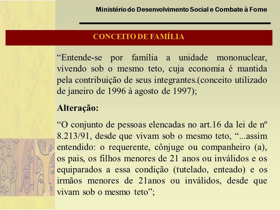 CONCEITO DE FAMÍLIA