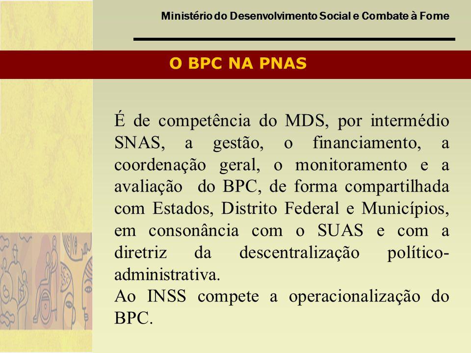 Ao INSS compete a operacionalização do BPC.