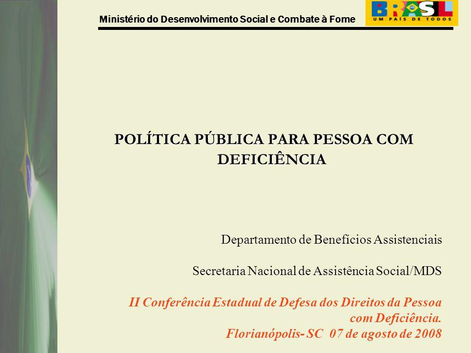 POLÍTICA PÚBLICA PARA PESSOA COM DEFICIÊNCIA