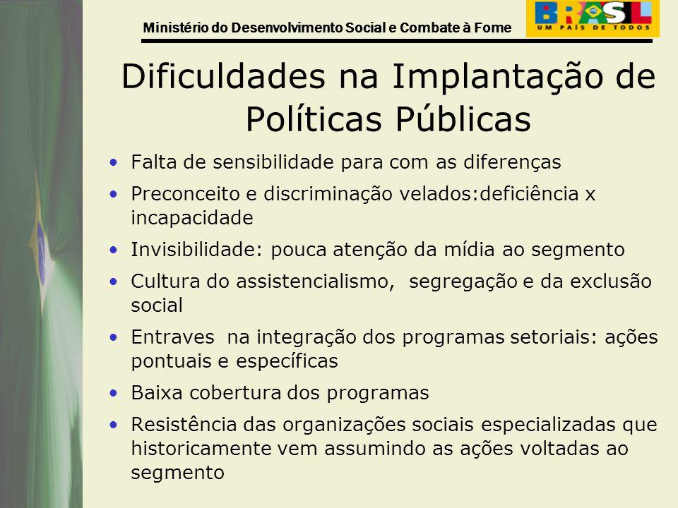 Dificuldades na Implantação de Políticas Públicas