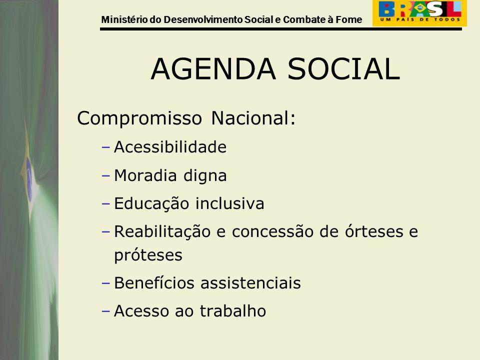AGENDA SOCIAL Compromisso Nacional: Acessibilidade Moradia digna