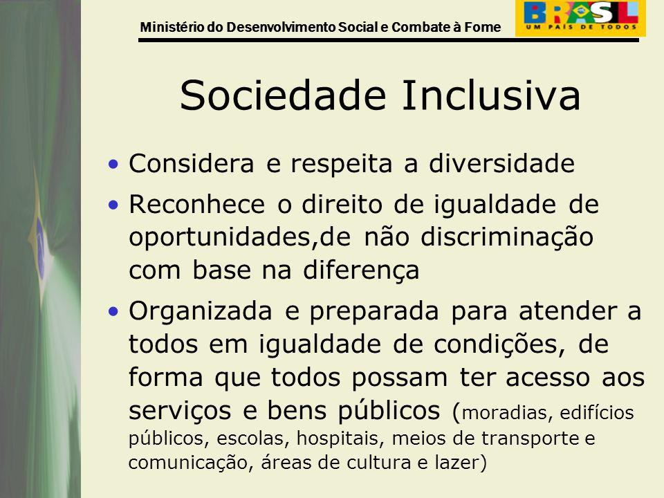 Sociedade Inclusiva Considera e respeita a diversidade