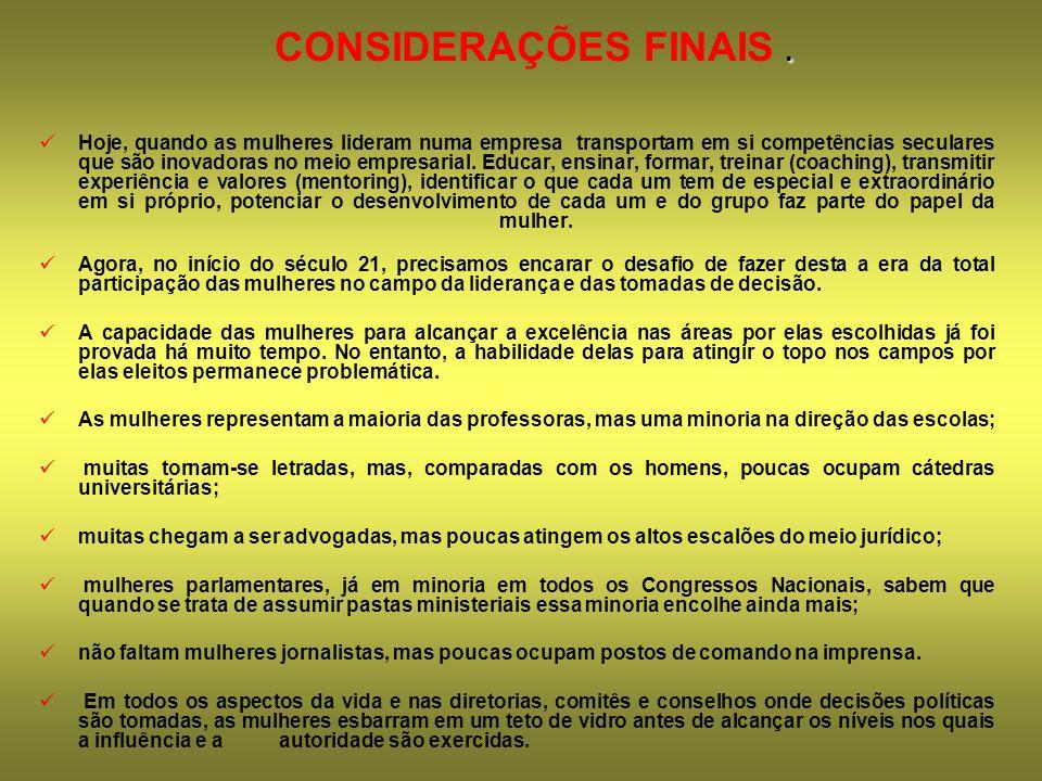 CONSIDERAÇÕES FINAIS .