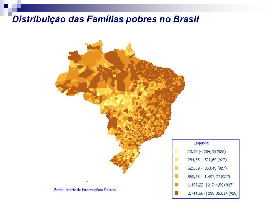 Distribuição das Famílias pobres no Brasil