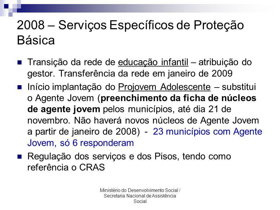 2008 – Serviços Específicos de Proteção Básica
