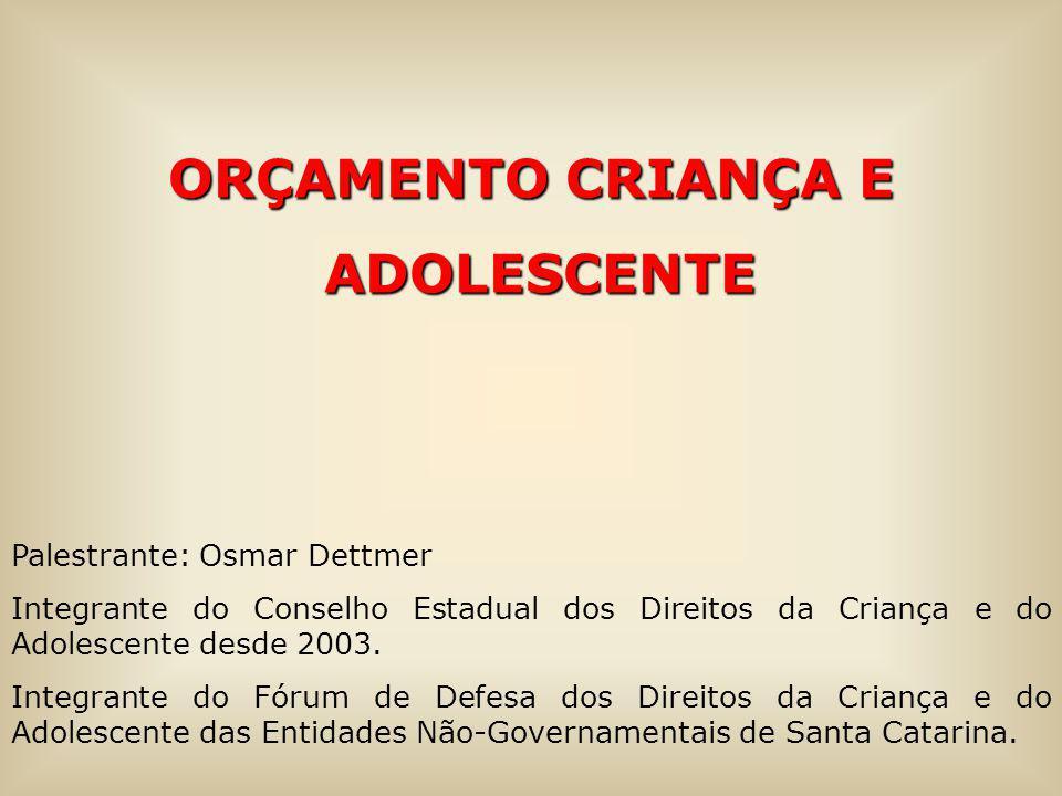 ORÇAMENTO CRIANÇA E ADOLESCENTE