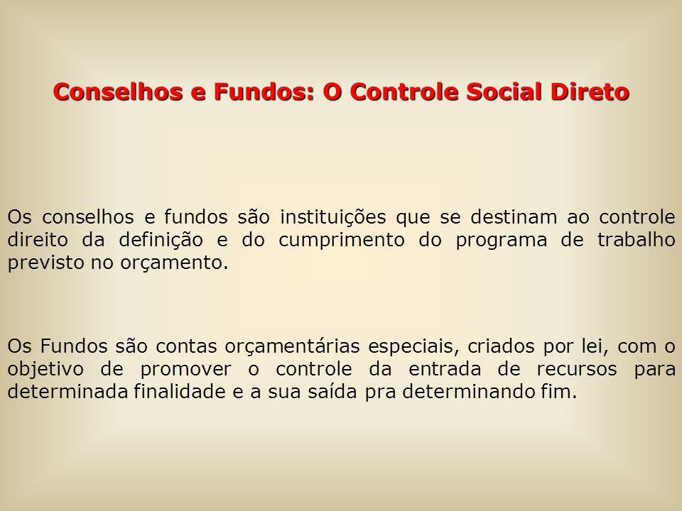 Conselhos e Fundos: O Controle Social Direto